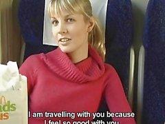 Czech Streets Veronika Sucks Cock On A Train