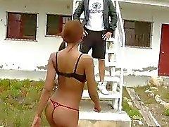Cuban babe Katia De Lys public fucking