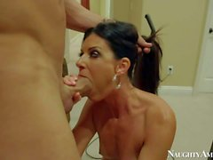 Skinny MILF with tanlines India Summer gets banged