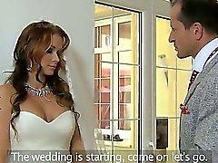 Riesige Meisen Braut durchgefickt & creampied
