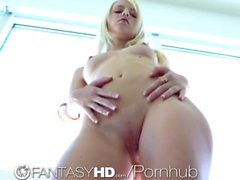 FantasyHD Sierra strips for her man and fucks him hard