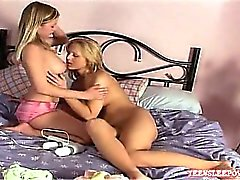 Two hot Kristen and Alina are having fun with playing a big