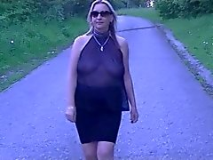 see through flashing public nudity