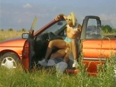 Blonde bent over car laid in her hot cunt