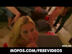 Mofos - Three HOT & horny college girls start an orgy
