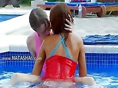 тонким бассейном Онанизм друзей
