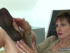 Adulterous british milf lady sonia exposes her huge boobs