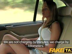 Fake Taxi Hot blonde in tight denim shorts