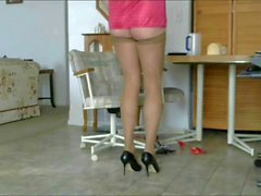 Highheel dangling from barefeet Pt 2 foot soles