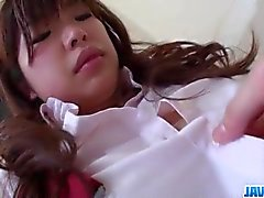 Ai Okada schoolgirl in heats craves for a big dick