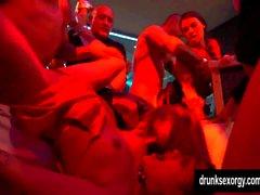 Slutty pornstars fucking in a club