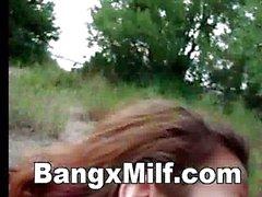 Hot Milf Outdoor Blowjob And Cuckold