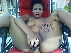 Amador Ebony Brincando Her Ass