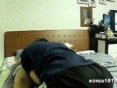 Aasian korealainen amatööri pari kotitekoinen webcam sex