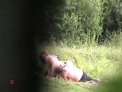 Pair making love outdoor voyeur movie