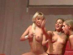 Lena Nitro, Hally Thomas & Adriana Russo Lesbian Show