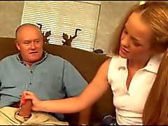 Old man having anal with a slut