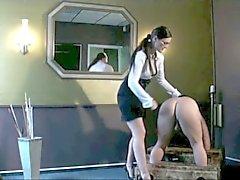 Mistress Spanks His Ass!!!!!!!