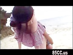 sexy cute big boobs girl outdoor fuck on beach 02