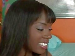 Ebony babe ana foxxx gives great footjob
