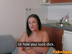 FakeAgent HD Big boobs amateur plays hard to get