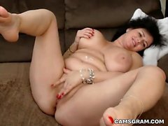 Hot Sexy Gigantic-Titted Curvy Tease And Masturbate