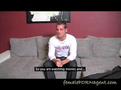 Shy Stud On The Casting Couch