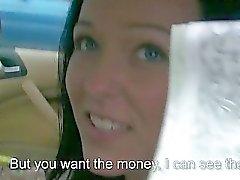 Eurobabe Natali Blue screwed up for cash