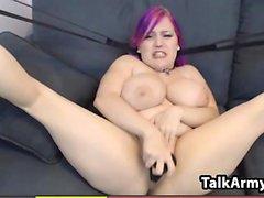 Thick Webcam Slut With Purple Hair