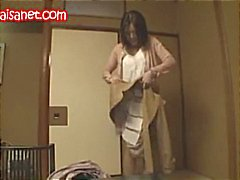 Busty Japanese babe gets pussy played with, blows and gets fucked