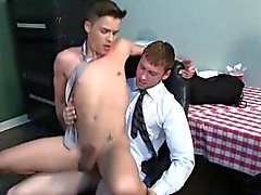Office hunk assfucks twink intern in cubicle