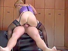 German Blonde in the lockerroom