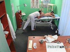 Doctor fucks nurse then patient