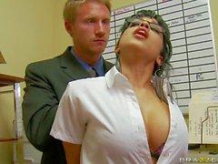 Abella Anderson is Levi Cash's new perfect boobed secretary. She
