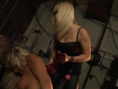 Adriana takes Lexi for a rough ride full of plastic cock