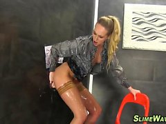 Glam whore gets slimed