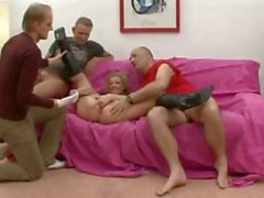 Hot blonde fist fucked and double penetrated