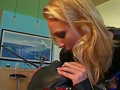 Male slave dominated and sucked by great Mistress