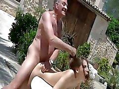 Tina Blade tricks oldman for sex