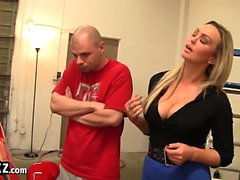 WANKZ - Horny Blonde MILF Babe Abbey Brooks Needs a Tune-Up!