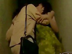 2 Asian Girls Kissing Passionately Sucking Nipples On The Corridor And Licking Pussies In 69 On The Bed In The Room