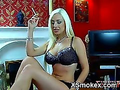 Seductive gal smoking porn