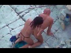 Вуайерист пляж анальный секс