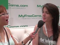 MyFreeCams emilylynne talks with Harriet Sugarcookie AVN AExpo 2015