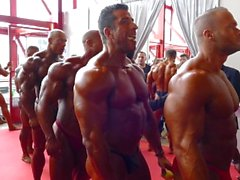 Pre-judging backstage - Arnold Classic 2014