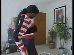 Ebony Mary Jane Cheerleader Anal
