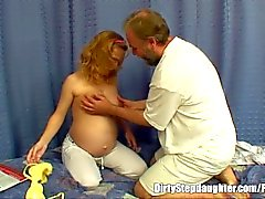 Pregnant Stepdaughter Gets Fucked By Her Lewd Stepfather