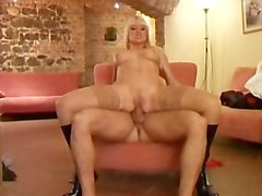 Babe In Knee High Boots Is Fucked In Her Ass