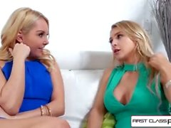 FirstClassPOV - Watch Alix and Aaliyah sucking on this massive huge cock