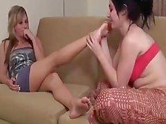 Lesbian feet worship